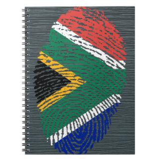 Südafrikanische Touchfingerabdruckflagge Notizblock