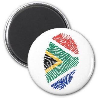 Südafrikanische Touchfingerabdruckflagge Runder Magnet 5,1 Cm