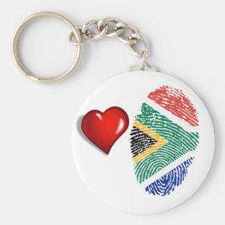 Südafrikanische Touchfingerabdruckflagge Schlüsselanhänger