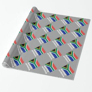 Südafrikanischer Flaggen-Packpapierentwurf Geschenkpapier