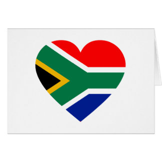 Südafrikanisches Flaggen-Herz Karte