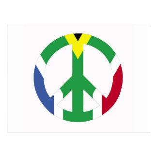 Südafrikanisches Friedenszeichen Postkarte