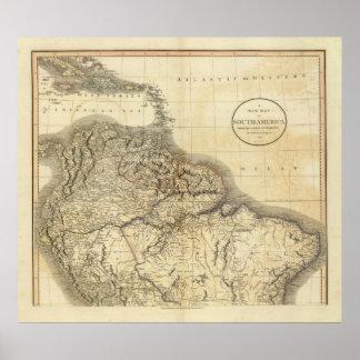 Südamerika Nord Plakatdruck