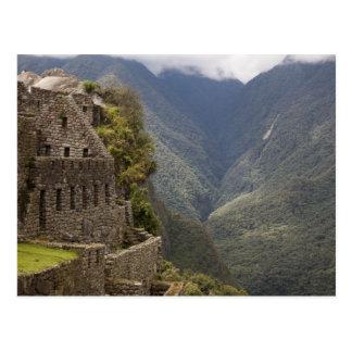 Südamerika, Peru, Machu Picchu. Steinruinen Postkarte