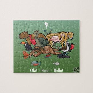Südamerikanische Tiere - Puzzle