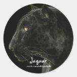 Südamerikanischer schwarzer Jaguar-Tier-Kollektor Runder Aufkleber