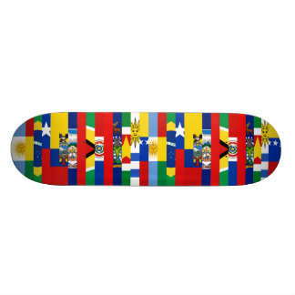 Südamerikanisches Flaggen-Skateboard 18,1 Cm Old School Skateboard Deck
