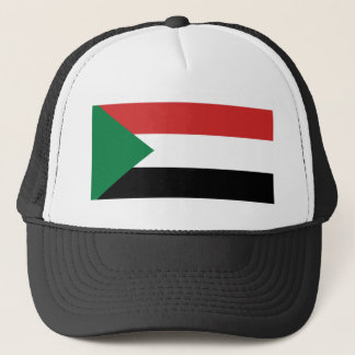 Sudan-Landesflaggenationssymbol Truckerkappe