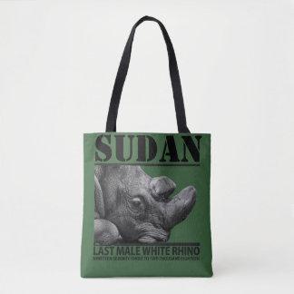 Sudan: Letztes männliches weißes Nashorn Tasche