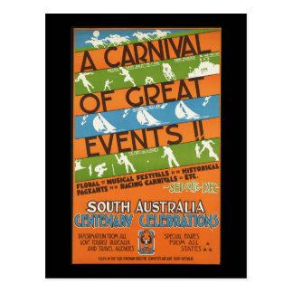 Südaustralien-Jahrhundertfeiern Postkarte