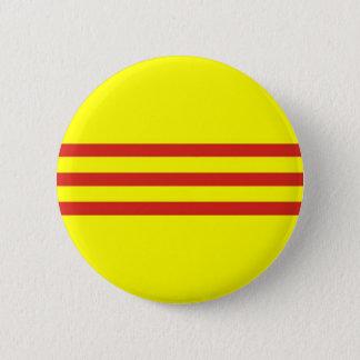 Südethnische Flagge vietnams Runder Button 5,7 Cm