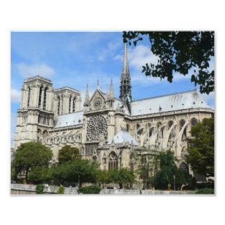 Südfassade, Notre Dame-Kathedrale, Paris, Fotodruck