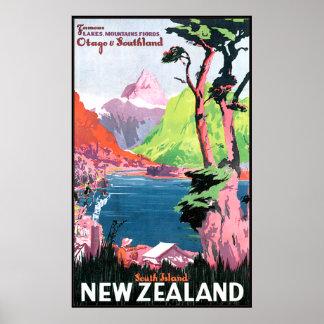 Südinsel Neuseeland Plakatdruck