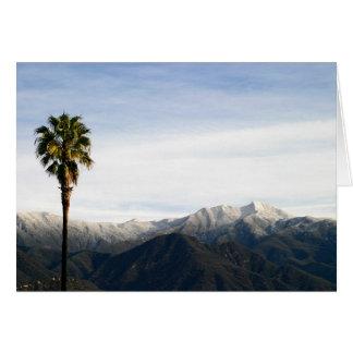 Südkalifornien-Schnee Karte