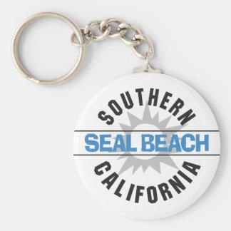 Südkalifornien - Siegel-Strand Schlüsselanhänger