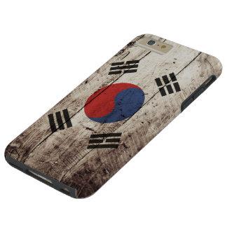 Südkorea-Flagge auf altem hölzernem Korn Tough iPhone 6 Plus Hülle