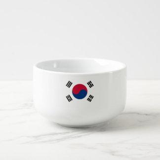 Südkorea-Flagge Große Suppentasse