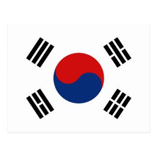 Südkorea-Flaggen-Postkarte Postkarte