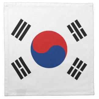Südkorea-Flaggen-Serviette Stoffserviette
