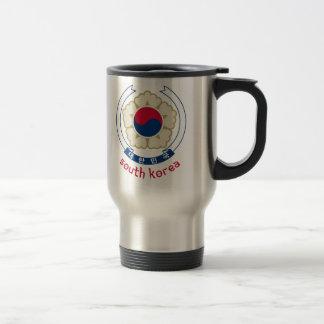 SÜDkorea - Koreaner/Asien/Asiat/Emblem/Flagge Reisebecher