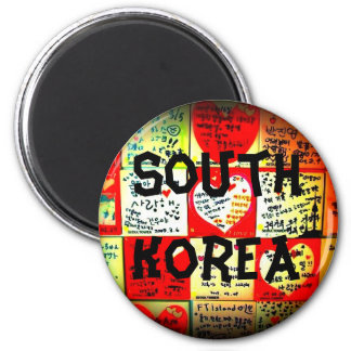 Südkorea-Kreis-Magnet Kühlschrankmagnete