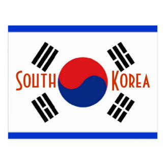 Südkorea-Postkarte Postkarte