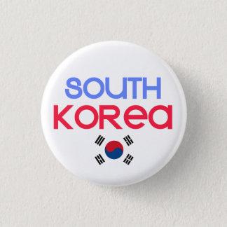 Südkorea und a (südkoreanische Flagge) Runder Button 2,5 Cm