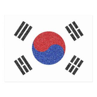 Südkoreanische Flagge Postkarte