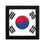 Südkoreanische Flagge Schmuckschachtel