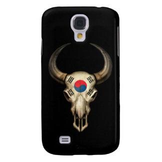Südkoreanischer Flaggen-Stier-Schädel auf Galaxy S4 Hülle