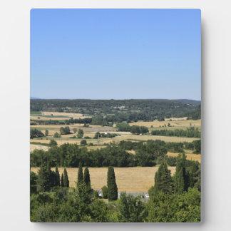 Südlich Frankreich-Feldes Fotoplatte