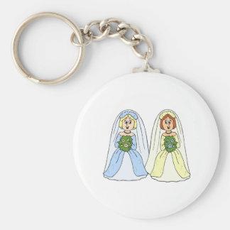 Südliche lesbische Hochzeit Schlüsselanhänger