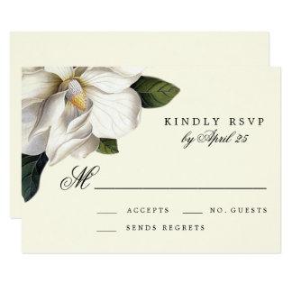 Südliche Magnolien-botanische Hochzeit UAWG Karte 8,9 X 12,7 Cm Einladungskarte