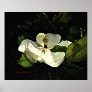 Südliche Magnolien-Kunst-Plakat Poster