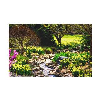 Südlicher Frühlings-botanischer mit Blumengarten Leinwanddruck