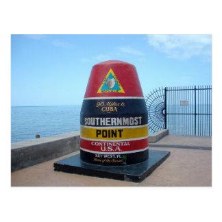 Südlichste Postkarte Punkt-Bojen-Key Wests Florida