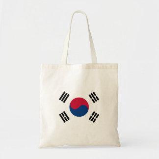 Südnationale Weltflagge koreas Budget Stoffbeutel