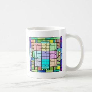 Sudoku Buntglas-Entwurf Kaffeetasse