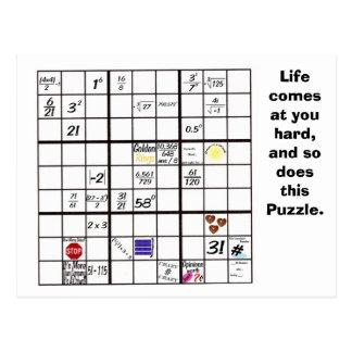 Sudoku Puzzlespiel-Karten Postkarte