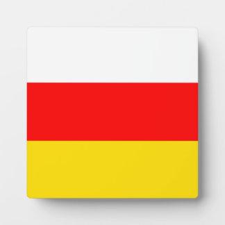 Südossetien-Flagge Fotoplatte