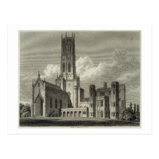 Südostansicht von Fonthill Abtei, 1812 (Stich Postkarte