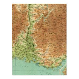 Südöstlicher Abschnitt Korsika Marseille Postkarte