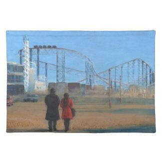 Südpromenade Blackpool Stofftischset