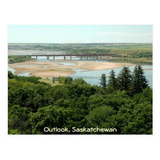 Südsaskatchewan-Fluss Postkarte