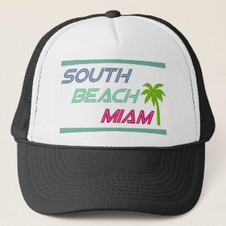 Südstrand Miami durch US-Gewohnheits-Tinte Truckerkappe