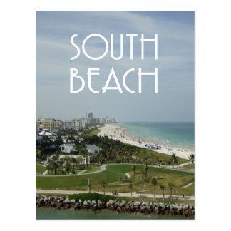 Südstrand-Miamiskyline-Foto Postkarte