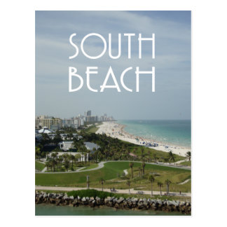 Südstrand-Miamiskyline-Foto Postkarten