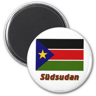 Südsudan Flagge MIT Namen