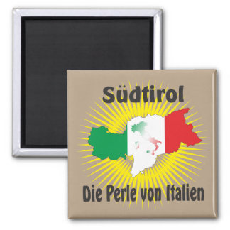 Südtirol – Alto Adige - Italien - Italia Magnet Quadratischer Magnet