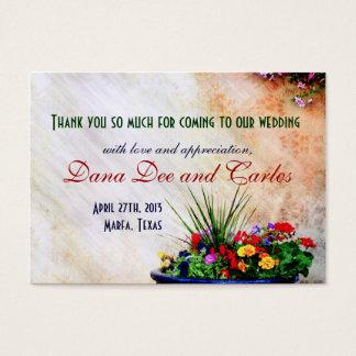 Südwesten-inspirierte Hochzeits-Geschenk-Tasche Jumbo-Visitenkarten
